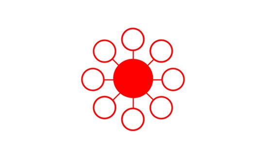 其二就是圆心点放射形构图我们将主要的功能设置在版式的中位置,就能引导用户的视线聚集在想要突出的功能点上,就算视线本来不在中间的位置,也能引导用户再次回到中心的聚集处。因为圆形具有灵动、活跃、有趣、可爱、多变的特质。在界面设计中善于将圆形的设计与动画结合,能让整个软件鲜活起来。如再加上旋转围绕的排版,会让整个软件鲜活起来。界面中的圆形能集中用户的视线,引导点击操作,突出主要的功能点或数据,把产品核心展现出来。