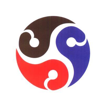 最终完成的标志是一个多心圆旋转图形,三个云纹形的阴阳鱼正转,反转